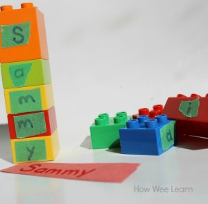 Name activities for preschoolers - building a name