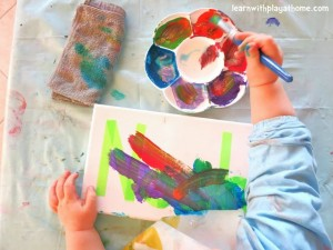 Name activities for preschoolers - easy name art