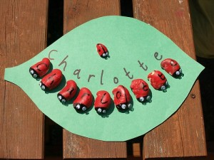 Name activities for preschoolers - ladybug names