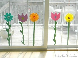 Name activities for preschoolers - name flowers