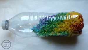 Name activities for preschoolers - name sensory bottle
