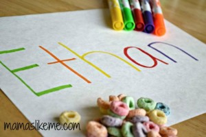 Name activities for preschoolers - rainbow names