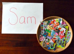 Name activities for preschoolers - sticker names