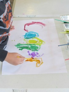 Name activities for preschoolers - watercolor names