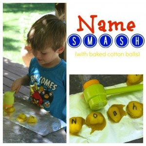 Preschool name games - name smash