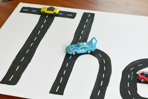 Preschool name games - road names
