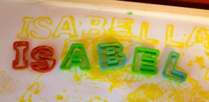 Preschool name games - toddler name art