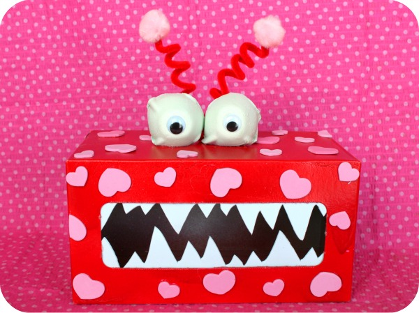 Valentines crafts for kids - monster