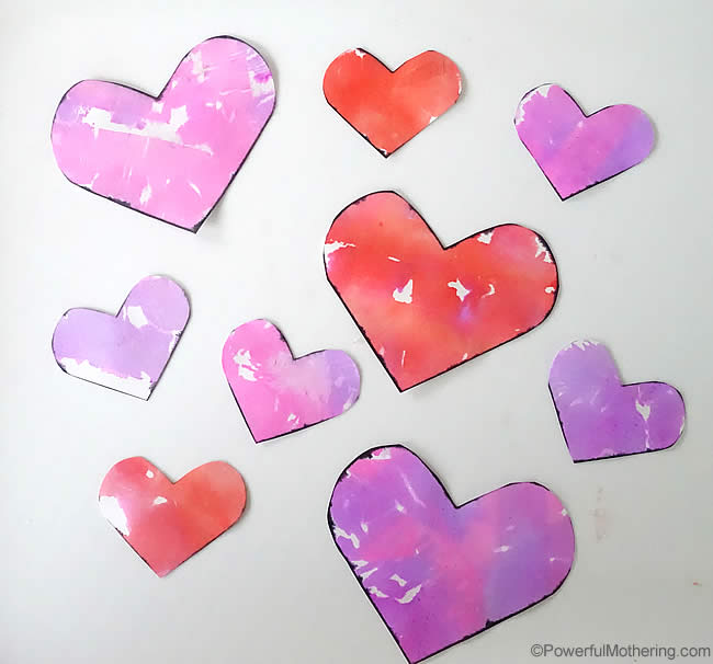 Valentines crafts for preschoolers - bleeding heart art
