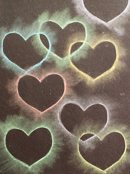 Valentines crafts for preschoolers - chalk heart