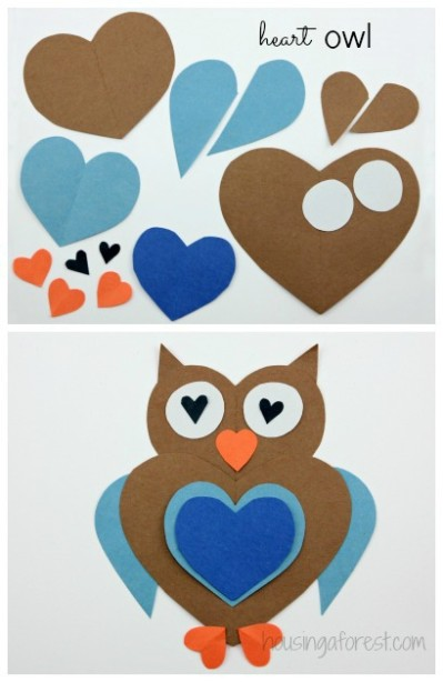Valentines crafts for preschoolers - heart animals