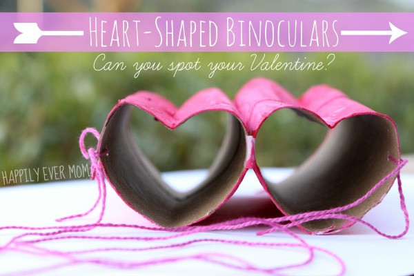 Valentines crafts for preschoolers - heart binoculars