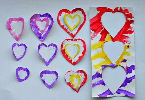 Valentines crafts for preschoolers - heart stencils
