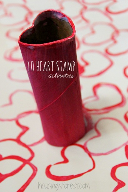 Valentines crafts for preschoolers - heart tubes