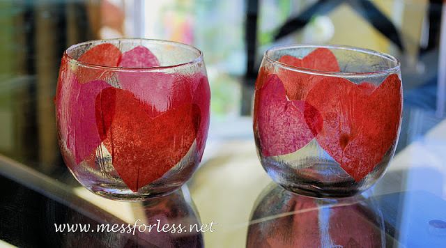 Valentines crafts for preschoolers - heart votives