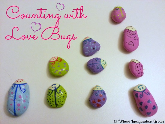 Valentines crafts for preschoolers - love bug rocks
