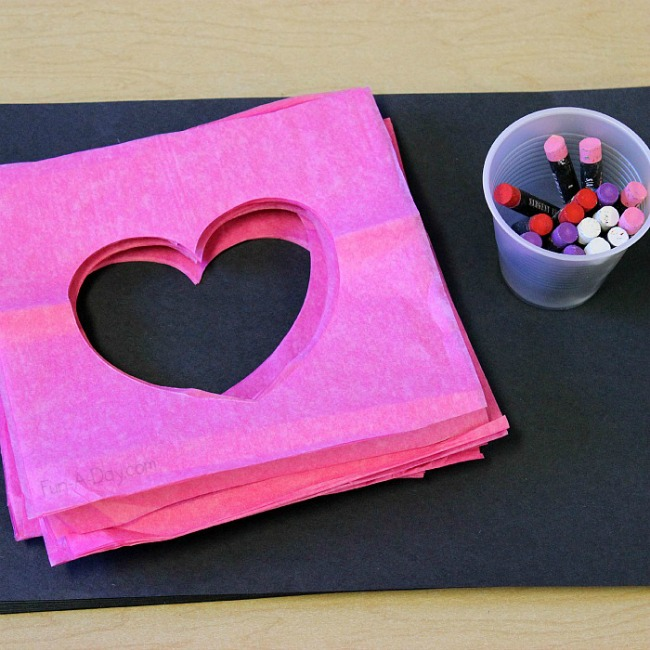 Valentines crafts for preschoolers - pastel heart stencils