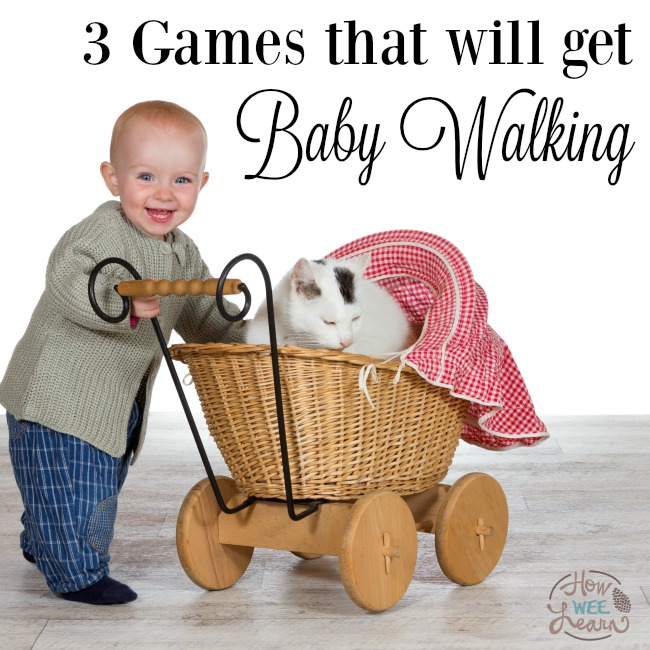 The 3 games that will teach baby to walk! #baby #teach #walk #grossmotor