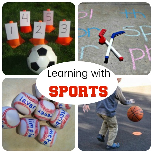 These are awesome preschool learning activities for kids that love sports! Perfect summer activities to get kids learning and ready for school