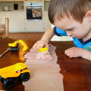 Playdough Road Construction