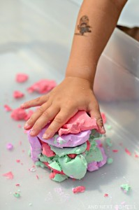 Easy play dough recipe - soap foam dough