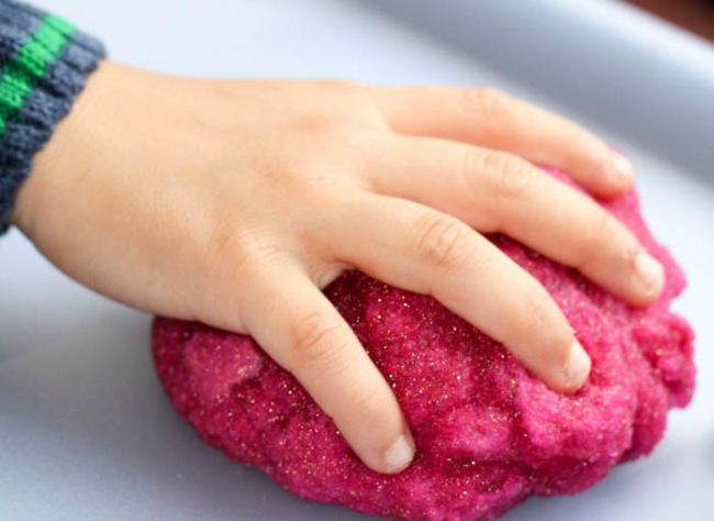 Easy play dough recipe - sparkly gel dough