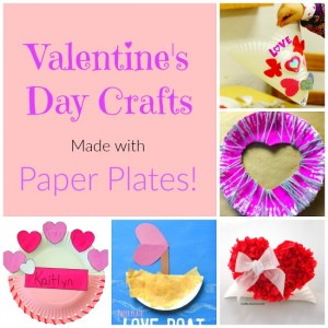 The sweetest Paper Plate Crafts for Valentine's Day!