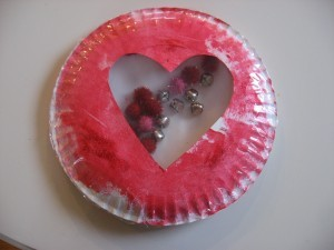 Paper plate valentine crafts - musical valentine craft