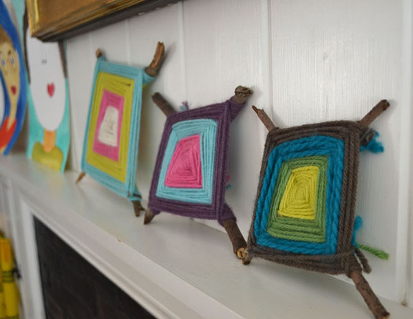 Yarn crafts for kids - ojos de dios