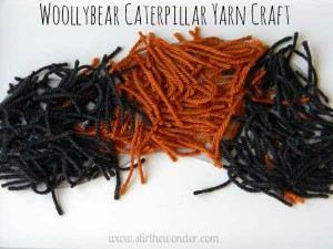 Yarn crafts for kids - woollybear caterpillars