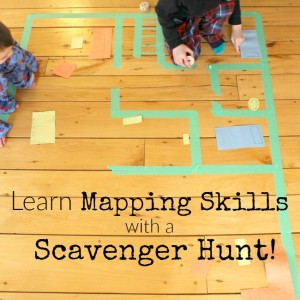 A great way to introduce mapping to preschoolers - this is an awesome scavenger hunt!