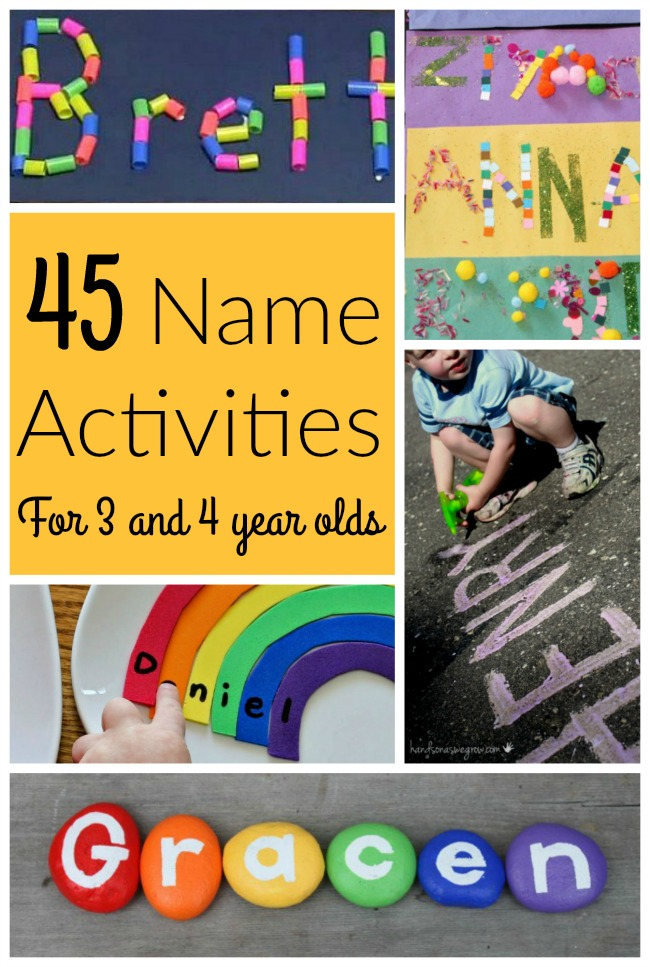 These are AWESOME name activities for preschoolers