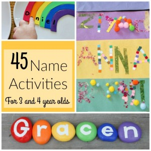 These are AWESOME name activities for preschoolers!