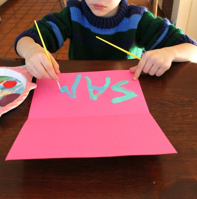 A great preschooler name activity - name art!