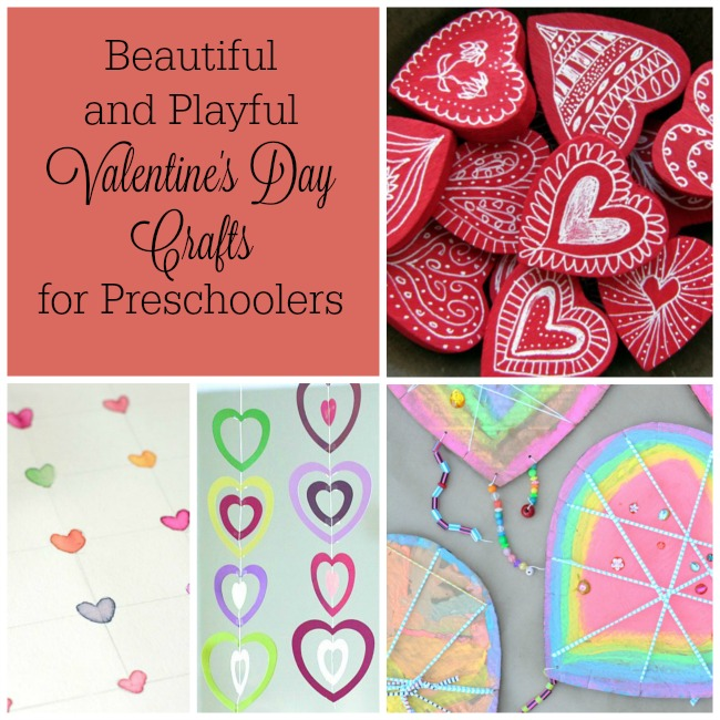 Gorgeous Valentine's Day crafts for preschoolers! These Valentine heart crafts and activities are great for kids! #valentinesday #preschoolvalentine #valentinecrafts #valentines #preschool
