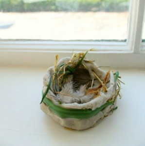 Nature crafts for kids - bird nest