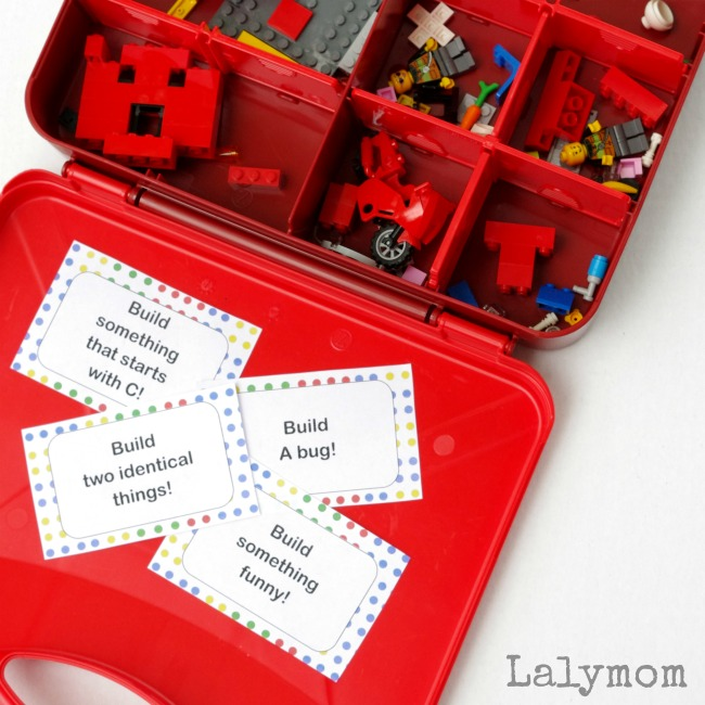 Quiet time activities - LEGO challenge cards