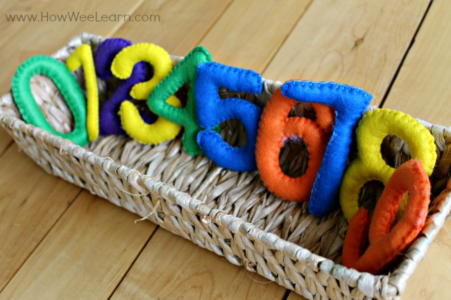 Quiet time activities - felt numbers