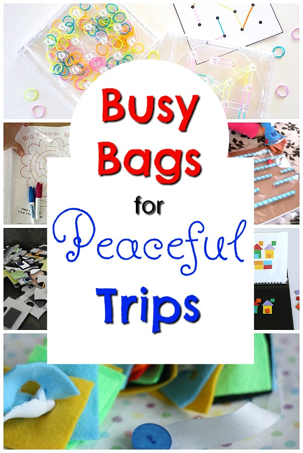Awesome busy bags to being with you on trips and for travel! These quiet time activities are perfect for keeping in the car! #travel #busybag #quiettime #kidsactivities #finemotor #travelling #vacation
