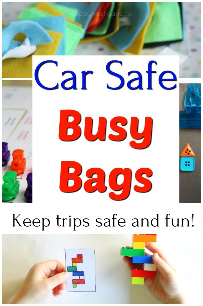 Perfect busy bags for long car rides and trips!  Great quiet time activities for preschoolers. #HowWeeLearn #busybags #quiettime #preschoolactivities #travelwithkids #travellingwithkids #parenting #parentingtips