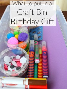 A craft bin birthday gift idea!