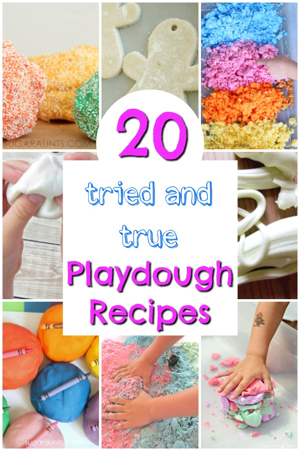 Easy playdough recipes that work EVERY TIME! These are tried and true, awesome and easy playdough recipes for kids. #playdough #recipes #DIY #play #kids #dough #sensory