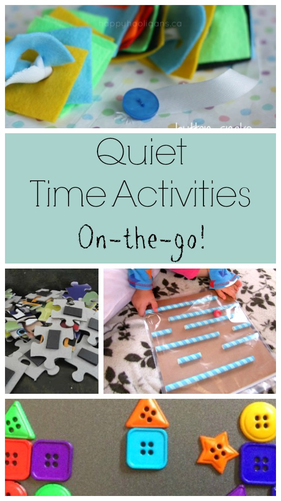Quiet time activities for the car, at a restaurant, or an appointment! These quiet time boxes are perfect for preschoolers for travelling #travel #preschool #preschoolactivities #quiettime #quiettimeboxes #quiettimeactivities #quietbins