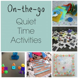 Quiet time activities for the car, at a restaurant, or an appointment!