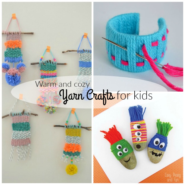 Warm and cozy yarn crafts for kids!