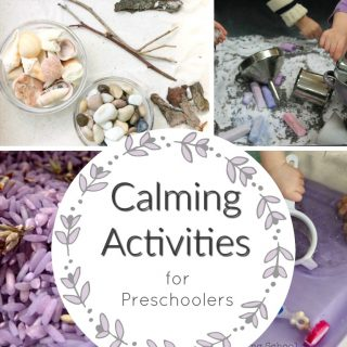 Relaxing, calming activities for preschoolers. Perfect quiet time activities for busy kids! #busybags #toddleractivities #preschoolactivities #quiettime #calmingactivities #sensoryplay #sensorybins