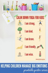Calming activities for kids - calm down yoga