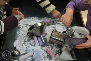 Calming activities for kids - lavender salt and play dough