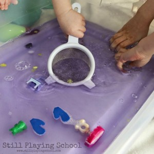 Calming activities for kids - lavender water activity
