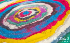 Calming activities for kids - sand art
